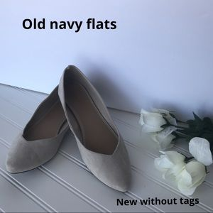 NWOT Old Navy cream pointed toe flats
